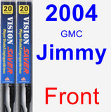 Front Wiper Blade Pack for 2004 GMC Jimmy - Vision Saver