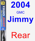 Rear Wiper Blade for 2004 GMC Jimmy - Vision Saver