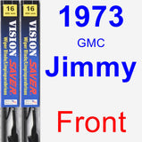 Front Wiper Blade Pack for 1973 GMC Jimmy - Vision Saver