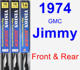 Front & Rear Wiper Blade Pack for 1974 GMC Jimmy - Vision Saver