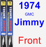 Front Wiper Blade Pack for 1974 GMC Jimmy - Vision Saver