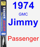 Passenger Wiper Blade for 1974 GMC Jimmy - Vision Saver