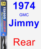 Rear Wiper Blade for 1974 GMC Jimmy - Vision Saver