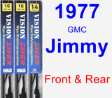 Front & Rear Wiper Blade Pack for 1977 GMC Jimmy - Vision Saver