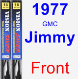 Front Wiper Blade Pack for 1977 GMC Jimmy - Vision Saver