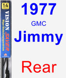 Rear Wiper Blade for 1977 GMC Jimmy - Vision Saver