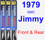 Front & Rear Wiper Blade Pack for 1979 GMC Jimmy - Vision Saver