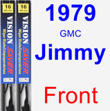 Front Wiper Blade Pack for 1979 GMC Jimmy - Vision Saver