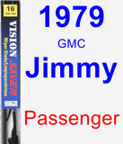 Passenger Wiper Blade for 1979 GMC Jimmy - Vision Saver