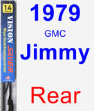 Rear Wiper Blade for 1979 GMC Jimmy - Vision Saver