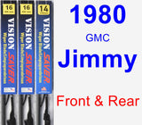 Front & Rear Wiper Blade Pack for 1980 GMC Jimmy - Vision Saver