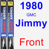 Front Wiper Blade Pack for 1980 GMC Jimmy - Vision Saver