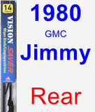 Rear Wiper Blade for 1980 GMC Jimmy - Vision Saver