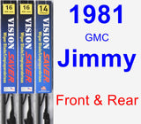 Front & Rear Wiper Blade Pack for 1981 GMC Jimmy - Vision Saver