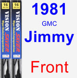 Front Wiper Blade Pack for 1981 GMC Jimmy - Vision Saver