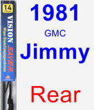 Rear Wiper Blade for 1981 GMC Jimmy - Vision Saver