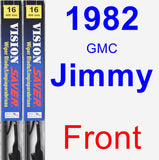 Front Wiper Blade Pack for 1982 GMC Jimmy - Vision Saver