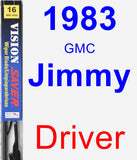 Driver Wiper Blade for 1983 GMC Jimmy - Vision Saver