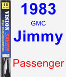 Passenger Wiper Blade for 1983 GMC Jimmy - Vision Saver