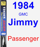 Passenger Wiper Blade for 1984 GMC Jimmy - Vision Saver