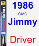 Driver Wiper Blade for 1986 GMC Jimmy - Vision Saver