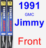 Front Wiper Blade Pack for 1991 GMC Jimmy - Vision Saver