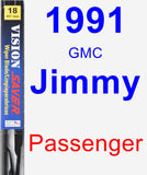 Passenger Wiper Blade for 1991 GMC Jimmy - Vision Saver