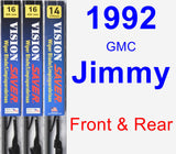 Front & Rear Wiper Blade Pack for 1992 GMC Jimmy - Vision Saver
