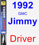Driver Wiper Blade for 1992 GMC Jimmy - Vision Saver