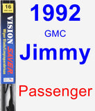 Passenger Wiper Blade for 1992 GMC Jimmy - Vision Saver