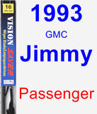 Passenger Wiper Blade for 1993 GMC Jimmy - Vision Saver