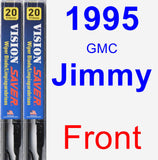 Front Wiper Blade Pack for 1995 GMC Jimmy - Vision Saver
