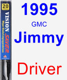 Driver Wiper Blade for 1995 GMC Jimmy - Vision Saver