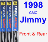 Front & Rear Wiper Blade Pack for 1998 GMC Jimmy - Vision Saver
