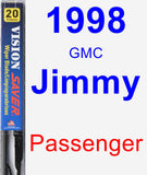 Passenger Wiper Blade for 1998 GMC Jimmy - Vision Saver