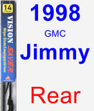 Rear Wiper Blade for 1998 GMC Jimmy - Vision Saver
