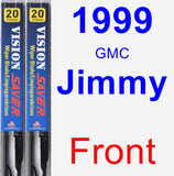 Front Wiper Blade Pack for 1999 GMC Jimmy - Vision Saver