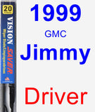 Driver Wiper Blade for 1999 GMC Jimmy - Vision Saver