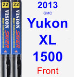 Front Wiper Blade Pack for 2013 GMC Yukon XL 1500 - Vision Saver