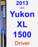 Driver Wiper Blade for 2013 GMC Yukon XL 1500 - Vision Saver