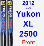 Front Wiper Blade Pack for 2012 GMC Yukon XL 2500 - Vision Saver