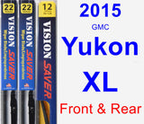 Front & Rear Wiper Blade Pack for 2015 GMC Yukon XL - Vision Saver