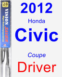 Driver Wiper Blade for 2012 Honda Civic - Vision Saver