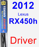 Driver Wiper Blade for 2012 Lexus RX450h - Vision Saver