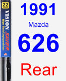 Rear Wiper Blade for 1991 Mazda 626 - Vision Saver