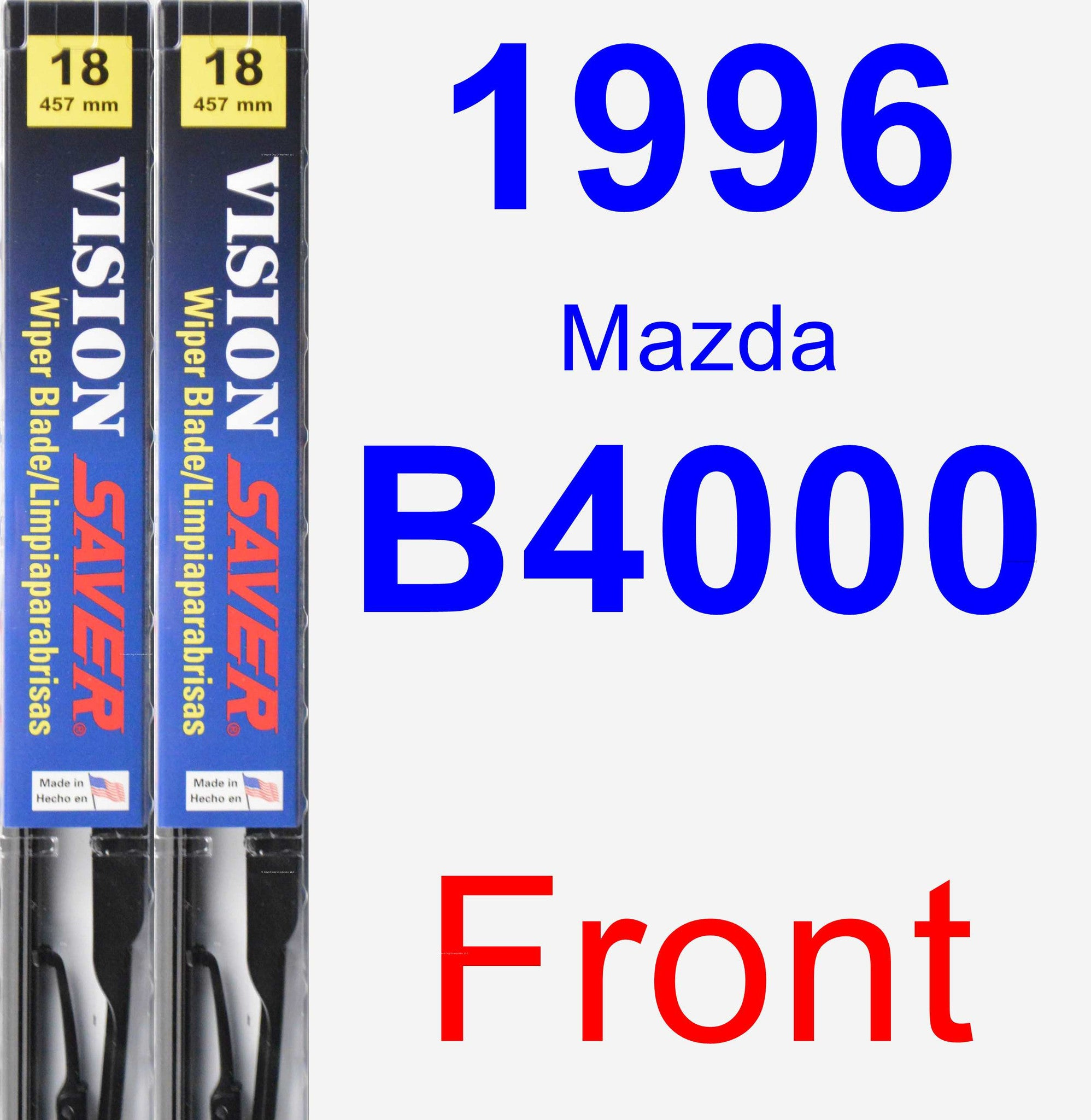 Front Wiper Blade Pack for 1996 Mazda B4000 - Vision Saver
