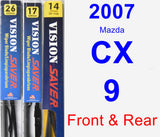 Front & Rear Wiper Blade Pack for 2007 Mazda CX-9 - Vision Saver