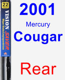 Rear Wiper Blade for 2001 Mercury Cougar - Vision Saver