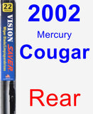 Rear Wiper Blade for 2002 Mercury Cougar - Vision Saver