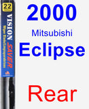 Rear Wiper Blade for 2000 Mitsubishi Eclipse - Vision Saver